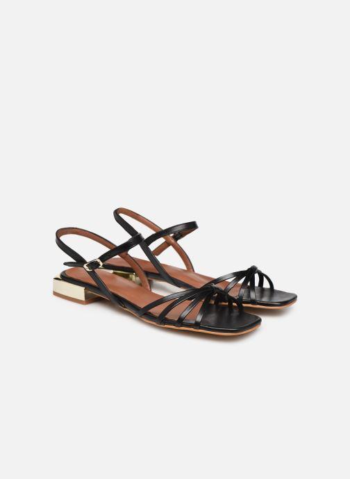 Sandales et nu-pieds Made by SARENZA Riviera Couture Sandales Plates #1 Noir vue derrière