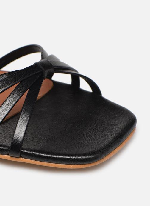 Sandales et nu-pieds Made by SARENZA Riviera Couture Sandales Plates #1 Noir vue gauche