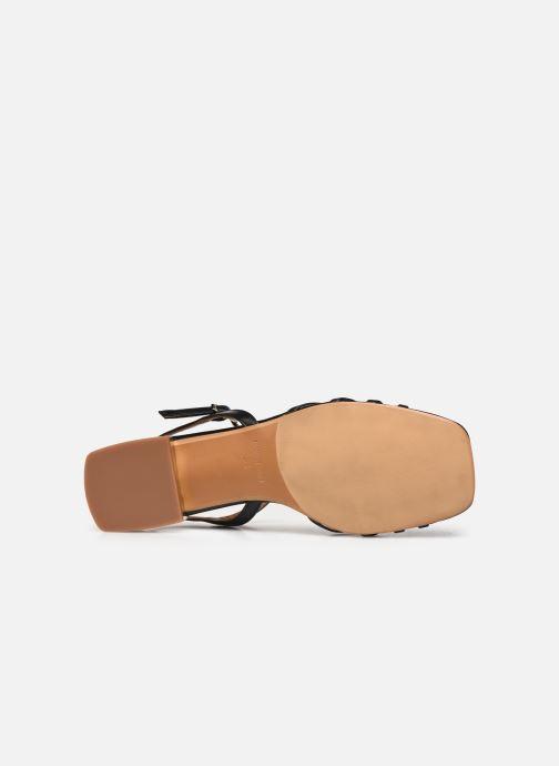 Sandales et nu-pieds Made by SARENZA Riviera Couture Sandales Plates #1 Noir vue haut