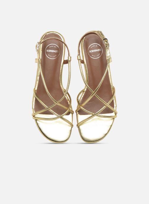 Sandali e scarpe aperte Made by SARENZA Riviera Couture Sandales Plates #2 Oro e bronzo modello indossato
