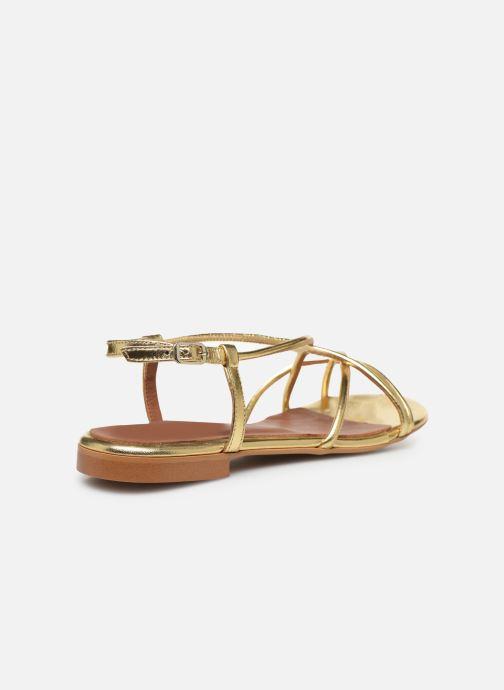 Sandales et nu-pieds Made by SARENZA Riviera Couture Sandales Plates #2 Or et bronze vue face