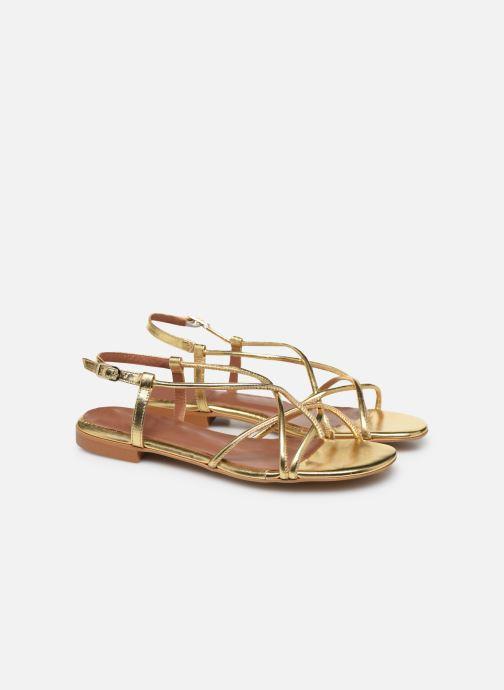 Sandalias Made by SARENZA Riviera Couture Sandales Plates #2 Oro y bronce vistra trasera