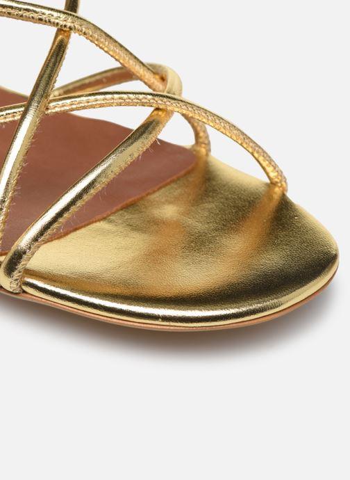 Sandales et nu-pieds Made by SARENZA Riviera Couture Sandales Plates #2 Or et bronze vue gauche