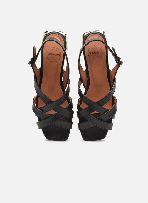 Sandalias Made by SARENZA South Village Sandales Plates #1 Negro vista del modelo