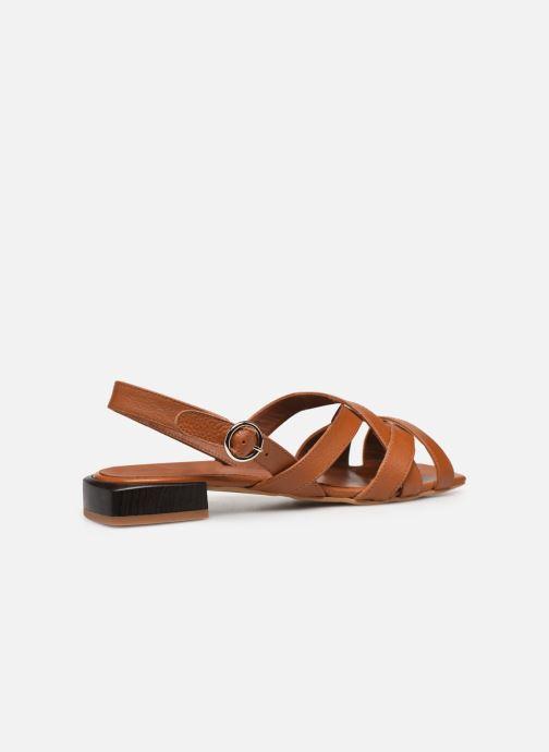 Sandales et nu-pieds Made by SARENZA South Village Sandales Plates #1 Marron vue face