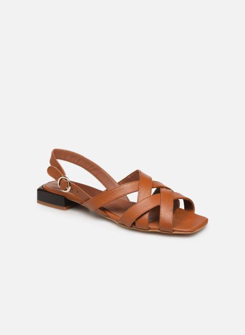 Sandales et nu-pieds Made by SARENZA South Village Sandales Plates #1 Marron vue droite