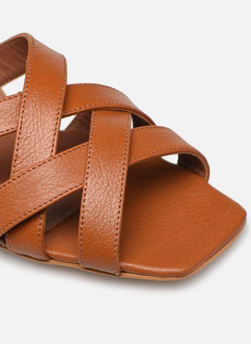 Sandales et nu-pieds Made by SARENZA South Village Sandales Plates #1 Marron vue gauche