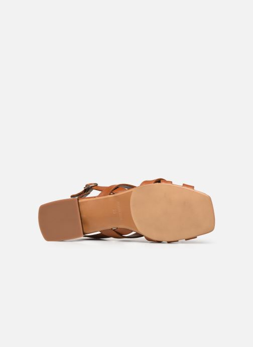 Sandales et nu-pieds Made by SARENZA South Village Sandales Plates #1 Marron vue haut