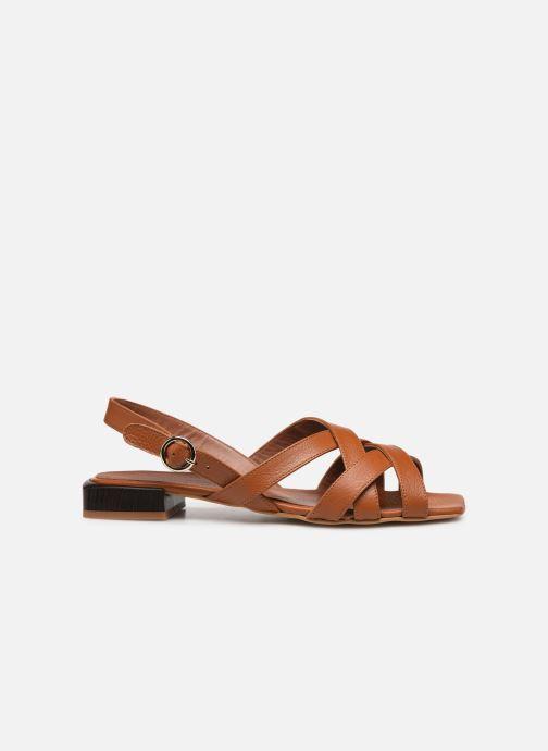 Sandales et nu-pieds Made by SARENZA South Village Sandales Plates #1 Marron vue détail/paire