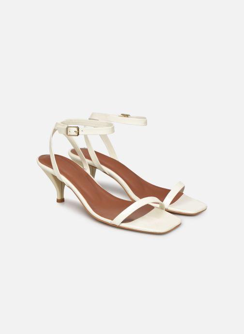 Sandales et nu-pieds Made by SARENZA Riviera Couture Sandales à Talon #1 Blanc vue derrière