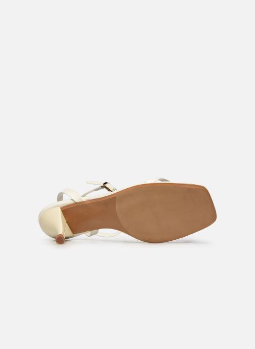Sandales et nu-pieds Made by SARENZA Riviera Couture Sandales à Talon #1 Blanc vue haut