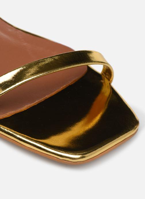 Sandalen Made by SARENZA Riviera Couture Sandales à Talon #1 Goud en brons links