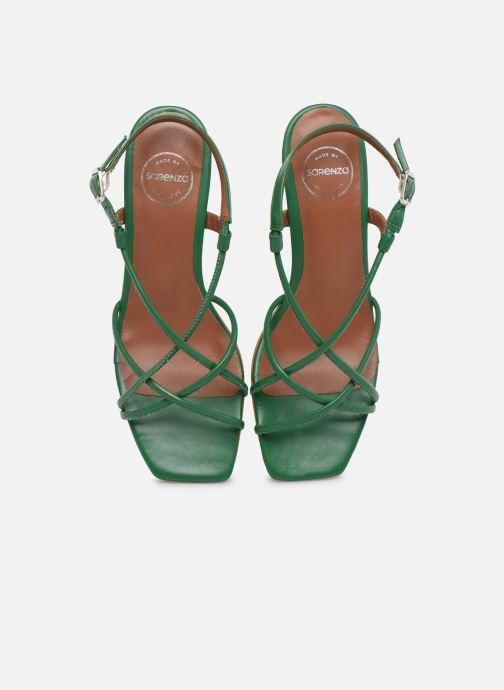 Sandales et nu-pieds Made by SARENZA Riviera Couture Sandales à Talon #3 Vert vue portées chaussures