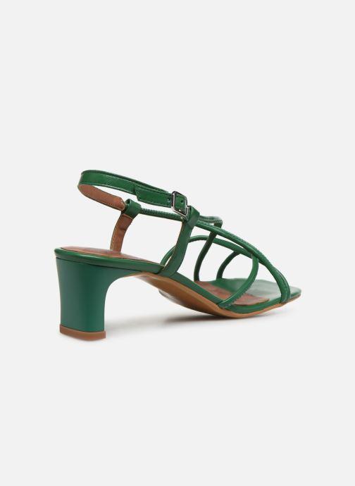 Sandales et nu-pieds Made by SARENZA Riviera Couture Sandales à Talon #3 Vert vue face