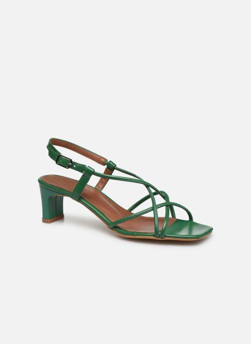 Sandales et nu-pieds Made by SARENZA Riviera Couture Sandales à Talon #3 Vert vue droite