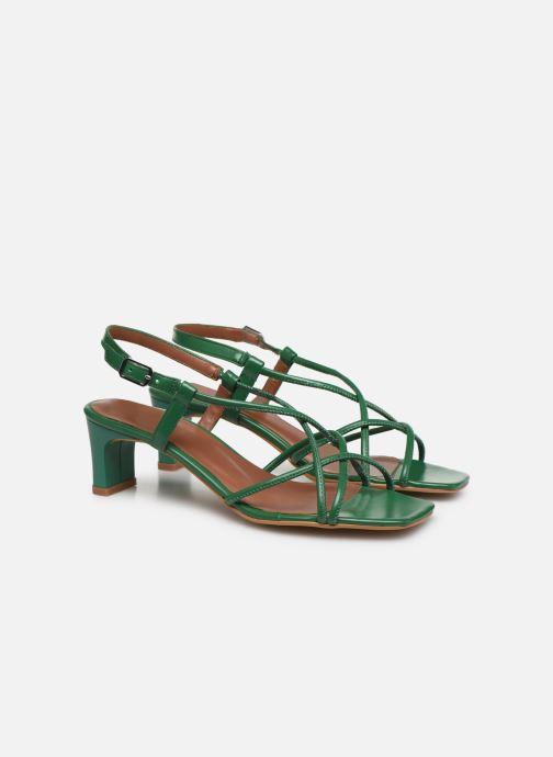 Sandales et nu-pieds Made by SARENZA Riviera Couture Sandales à Talon #3 Vert vue derrière