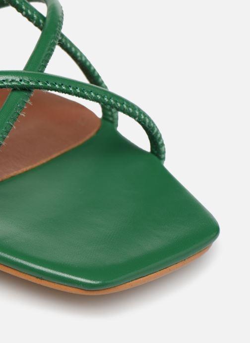 Sandales et nu-pieds Made by SARENZA Riviera Couture Sandales à Talon #3 Vert vue gauche