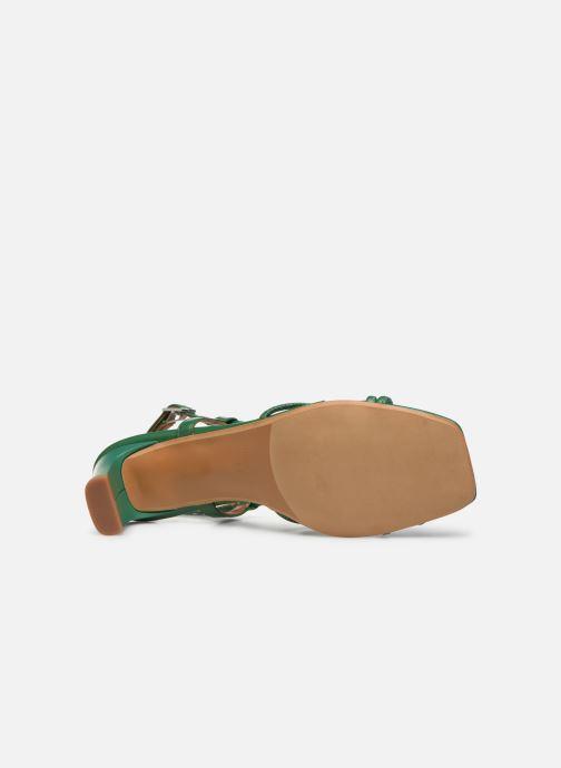 Sandales et nu-pieds Made by SARENZA Riviera Couture Sandales à Talon #3 Vert vue haut