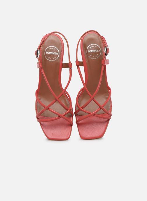 Sandales et nu-pieds Made by SARENZA Riviera Couture Sandales à Talon #3 Rouge vue portées chaussures