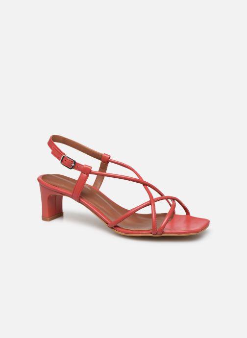 Sandales et nu-pieds Made by SARENZA Riviera Couture Sandales à Talon #3 Rouge vue droite