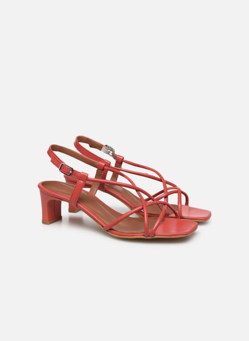Sandalias Made by SARENZA Riviera Couture Sandales à Talon #3 Rojo vistra trasera