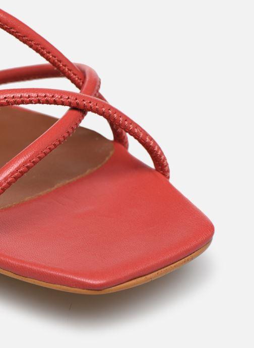 Sandales et nu-pieds Made by SARENZA Riviera Couture Sandales à Talon #3 Rouge vue gauche