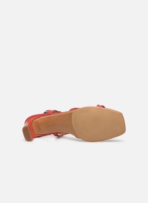 Sandales et nu-pieds Made by SARENZA Riviera Couture Sandales à Talon #3 Rouge vue haut