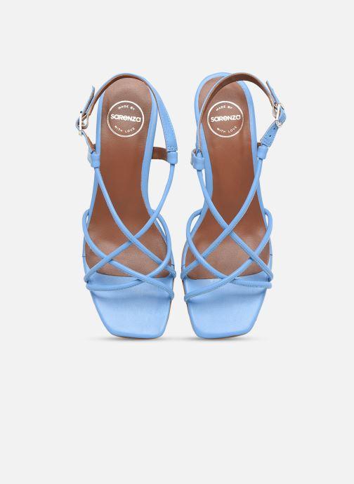 Sandalen Made by SARENZA Riviera Couture Sandales à Talon #3 blau schuhe getragen