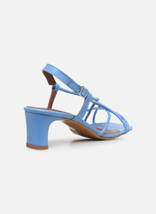 Sandales et nu-pieds Made by SARENZA Riviera Couture Sandales à Talon #3 Bleu vue face