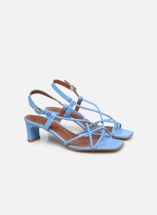 Sandales et nu-pieds Made by SARENZA Riviera Couture Sandales à Talon #3 Bleu vue derrière