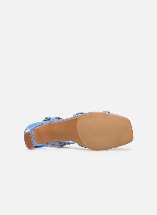 Sandales et nu-pieds Made by SARENZA Riviera Couture Sandales à Talon #3 Bleu vue haut