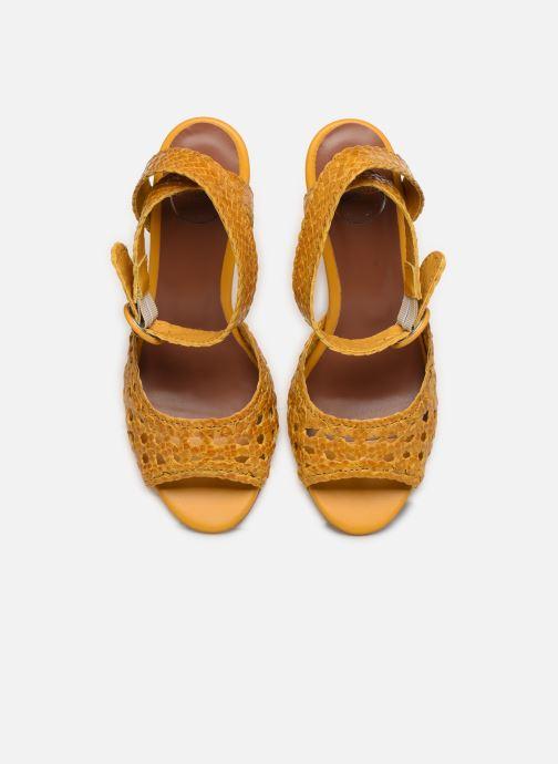 Sandali e scarpe aperte Made by SARENZA Riviera Couture Sandales à Talon #5 Giallo modello indossato