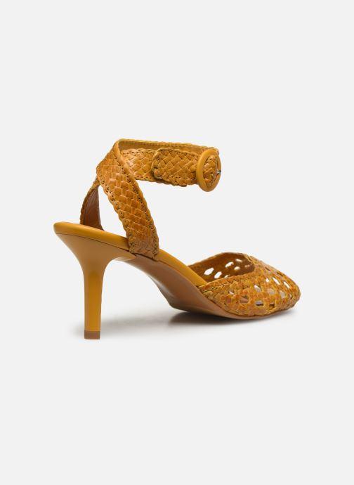 Sandalen Made by SARENZA Riviera Couture Sandales à Talon #5 Geel voorkant