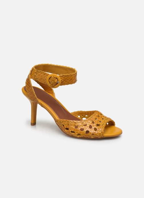 Sandalen Made by SARENZA Riviera Couture Sandales à Talon #5 Geel rechts