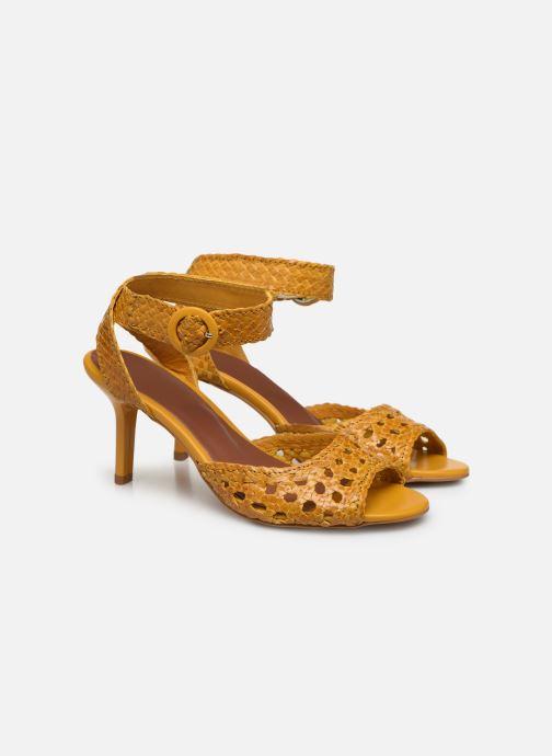 Sandalen Made by SARENZA Riviera Couture Sandales à Talon #5 Geel achterkant