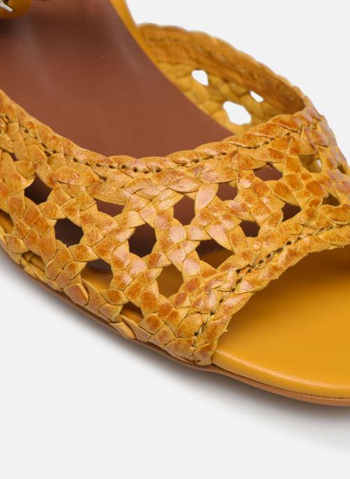 Sandalen Made by SARENZA Riviera Couture Sandales à Talon #5 Geel links