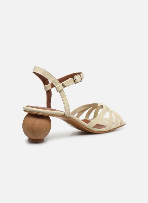 Sandales et nu-pieds Made by SARENZA Riviera Couture Sandales à Talon #2 Blanc vue face