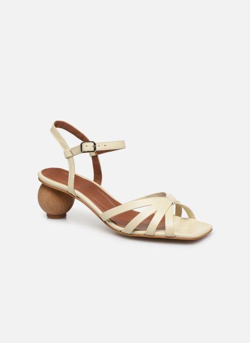 Sandales et nu-pieds Made by SARENZA Riviera Couture Sandales à Talon #2 Blanc vue droite