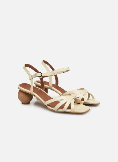 Sandales et nu-pieds Made by SARENZA Riviera Couture Sandales à Talon #2 Blanc vue derrière