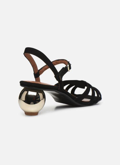 Sandalias Made by SARENZA Riviera Couture Sandales à Talon #2 Negro vista de frente