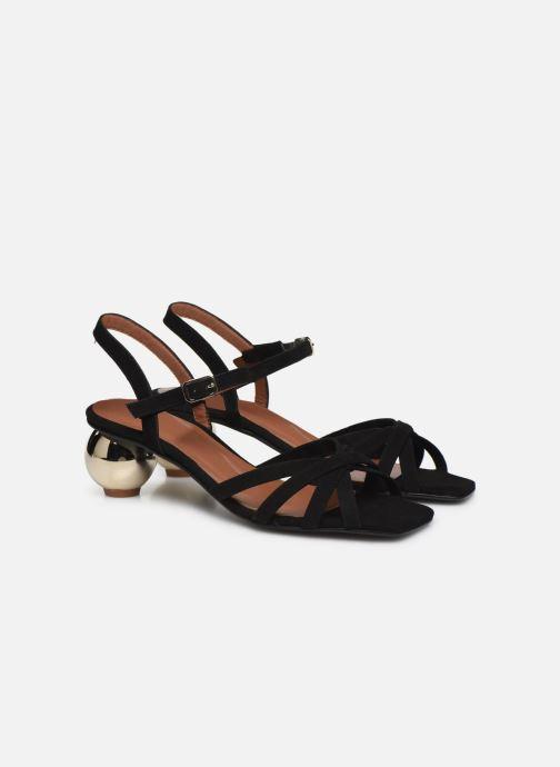Sandalias Made by SARENZA Riviera Couture Sandales à Talon #2 Negro vistra trasera