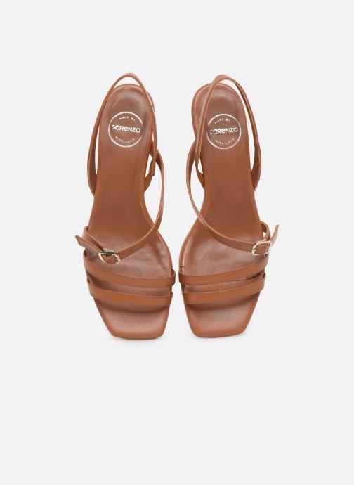 Sandali e scarpe aperte Made by SARENZA Riviera Couture Sandales à Talon #4 Marrone modello indossato