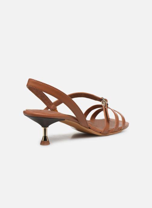 Sandales et nu-pieds Made by SARENZA Riviera Couture Sandales à Talon #4 Marron vue face