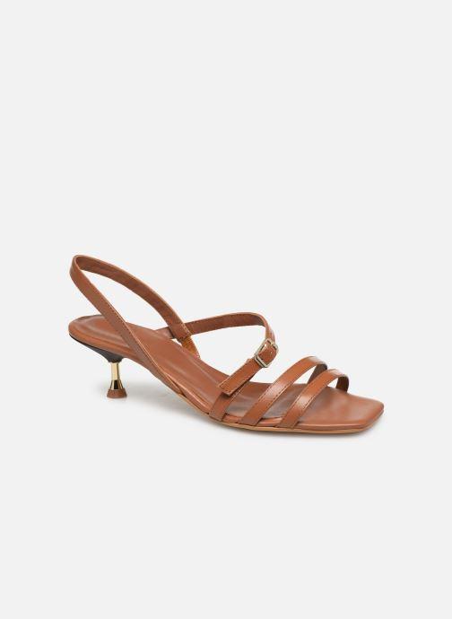 Sandales et nu-pieds Made by SARENZA Riviera Couture Sandales à Talon #4 Marron vue droite