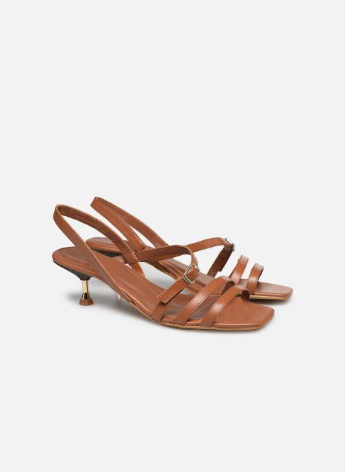 Sandales et nu-pieds Made by SARENZA Riviera Couture Sandales à Talon #4 Marron vue derrière