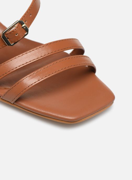 Sandales et nu-pieds Made by SARENZA Riviera Couture Sandales à Talon #4 Marron vue gauche