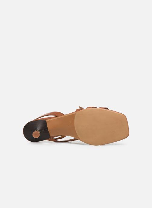 Sandales et nu-pieds Made by SARENZA Riviera Couture Sandales à Talon #4 Marron vue haut