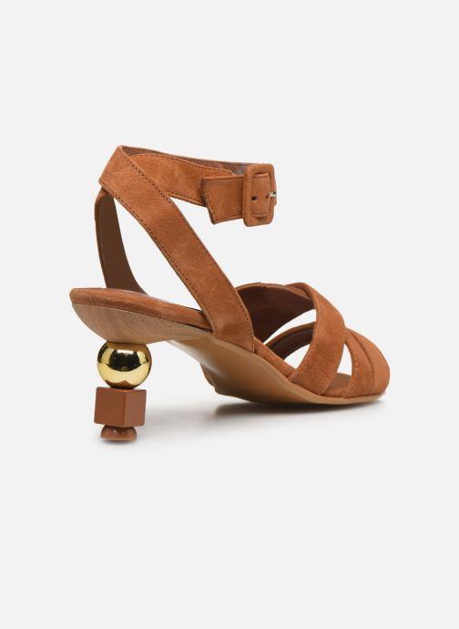 Sandalen Made by SARENZA Riviera Couture Sandales à Talon #6 Bruin voorkant