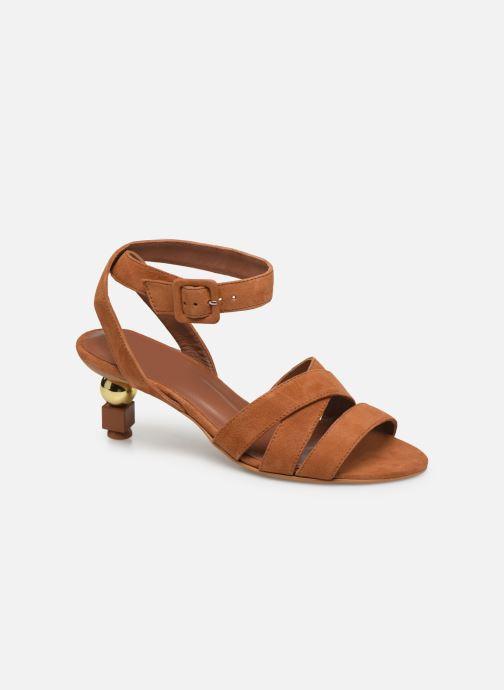 Sandalen Made by SARENZA Riviera Couture Sandales à Talon #6 Bruin rechts