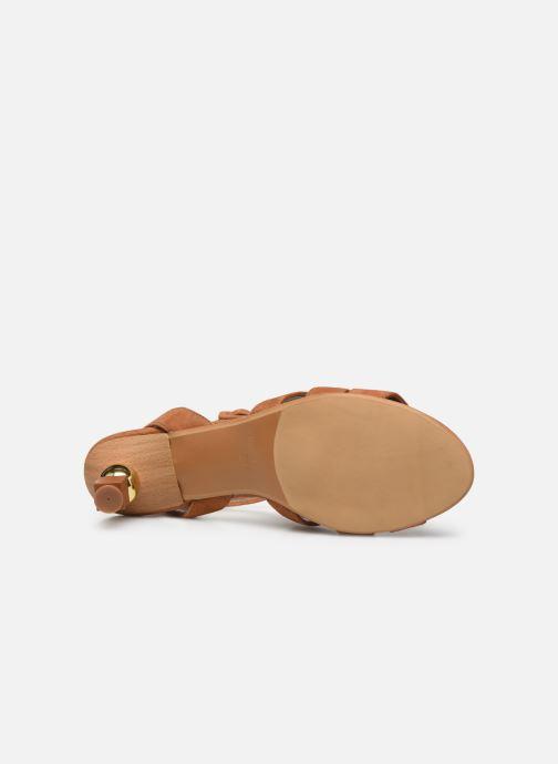 Sandalen Made by SARENZA Riviera Couture Sandales à Talon #6 Bruin boven